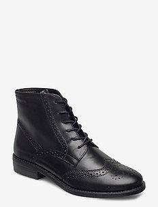 Woms Boots - flate ankelstøvletter - black