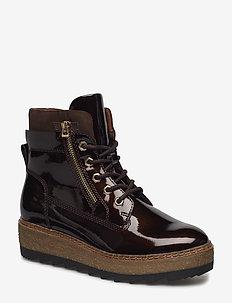 Woms Boots - tasapohjaiset nilkkurit - maroon pat.