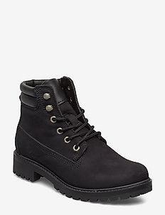 Boots - tasapohjaiset nilkkurit - black uni