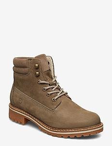 Boots - tasapohjaiset nilkkurit - taupe
