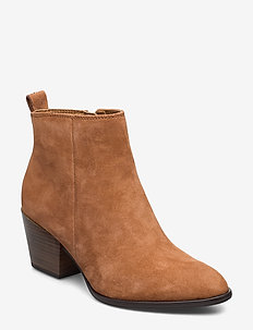 Woms Boots - ankle boots with heel - nut suede