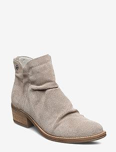 Woms Boots - enkellaarsjes met hak - taupe