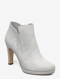 Woms Boots - ankelstøvletter med hæl - grey