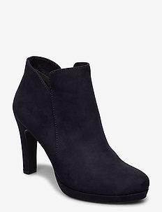 Woms Boots - enkellaarsjes met hak - navy