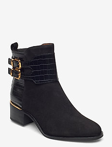 Woms Boots - ankle boots with heel - black comb