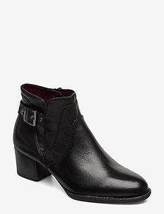 Woms Boots - ankelstøvletter med hæl - black
