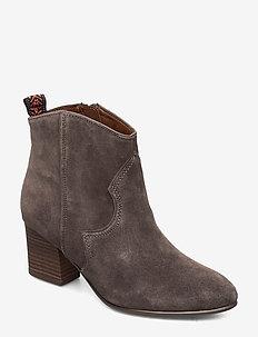 Boots - ankelstøvletter med hæl - graphite