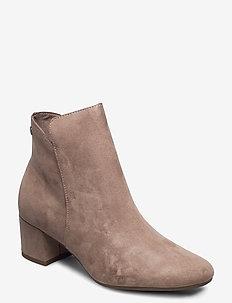 Woms Boots - ankelboots med klack - antelope