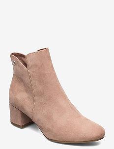 Woms Boots - enkellaarsjes met hak - old rose