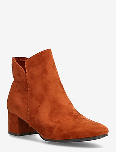 Woms Boots - ankelstøvler med hæl - brandy