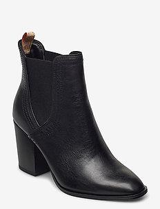 Woms Boots - talon haut - black leather