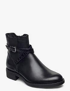 Woms Boots - tasapohjaiset nilkkurit - black/croco