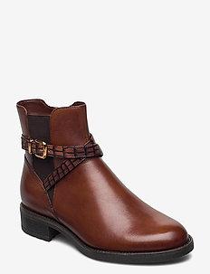 Woms Boots - tasapohjaiset nilkkurit - brandy
