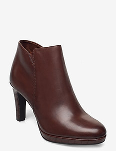 Woms Boots - ankle boots with heel - maroon/croco