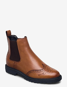 Woms Boots - chelsea boots - cognac leather