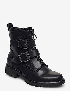 Woms Boots - flat ankle boots - black matt