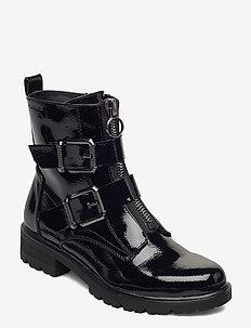 Woms Boots - flate ankelstøvletter - black patent