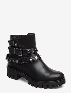Boots - høye boots - black
