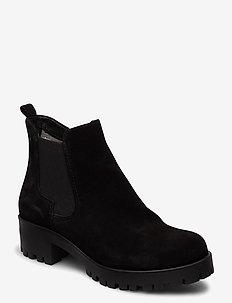 Woms Boots - ankelboots med klack - black suede