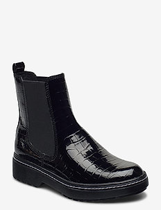 Woms Boots - chelsea boots - blk croco pat.