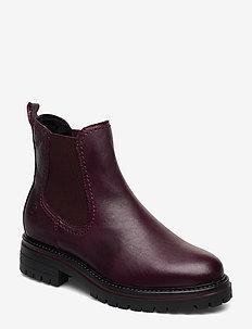 Woms Boots - chelsea boots - bordeaux leath