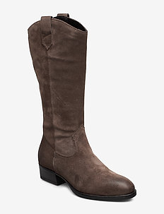 Woms Boots - høye boots - taupe