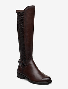 Woms Boots - lange stiefel - mocca