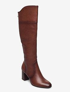 Woms Boots - höga stövlar - brandy