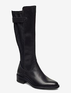 Woms Boots - lange laarzen - black