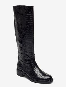 Woms Boots - bottes hautes - black croco