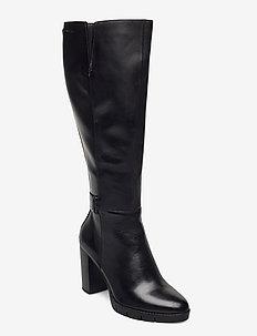 Woms Boots - lange laarzen - black/croco
