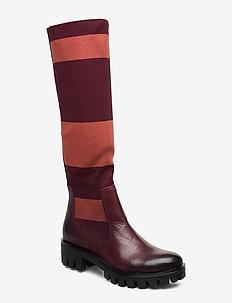 Woms Boots - høye boots - merlot stripe