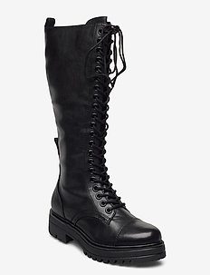 Woms Boots - höga stövlar - black
