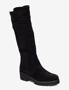 Boots - lange stiefel - black suede