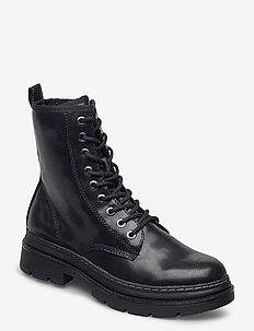 Woms Boots - flade ankelstøvler - black matt