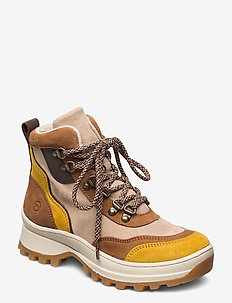 Woms Boots - sneakers med høy ankel - camel comb