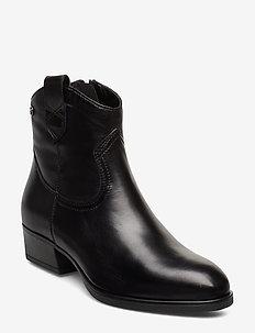 Woms Boots - korolliset nilkkurit - black leather