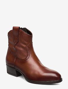 Woms Boots - korolliset nilkkurit - cognac leather