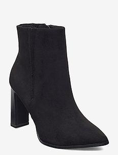 Woms Boots - ankelstøvler med hæl - black suede