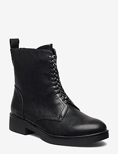 Woms Boots - lage hakken - black