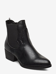 Woms Boots - hoge hakken - black matt
