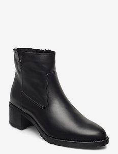 Woms Boots - ankelboots med klack - black