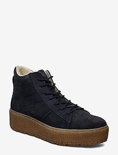 Woms Boots - tasapohjaiset nilkkurit - navy