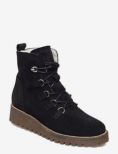 Woms Boots - tasapohjaiset nilkkurit - black comb