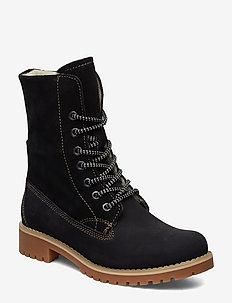 Boots - tasapohjaiset nilkkurit - black