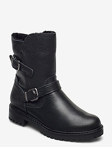 Woms Boots - tasapohjaiset nilkkurit - black