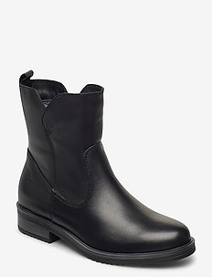 Woms Boots - flat ankle boots - black leather