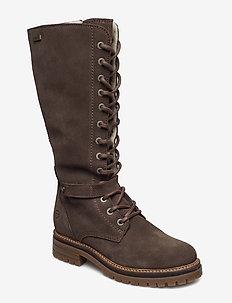 Woms Boots - lage hakken - tobacco