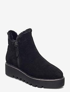 Woms Boots - platte enkellaarsjes - black