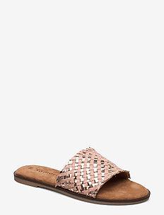 Woms Slides - flate sandaler - rose met. comb